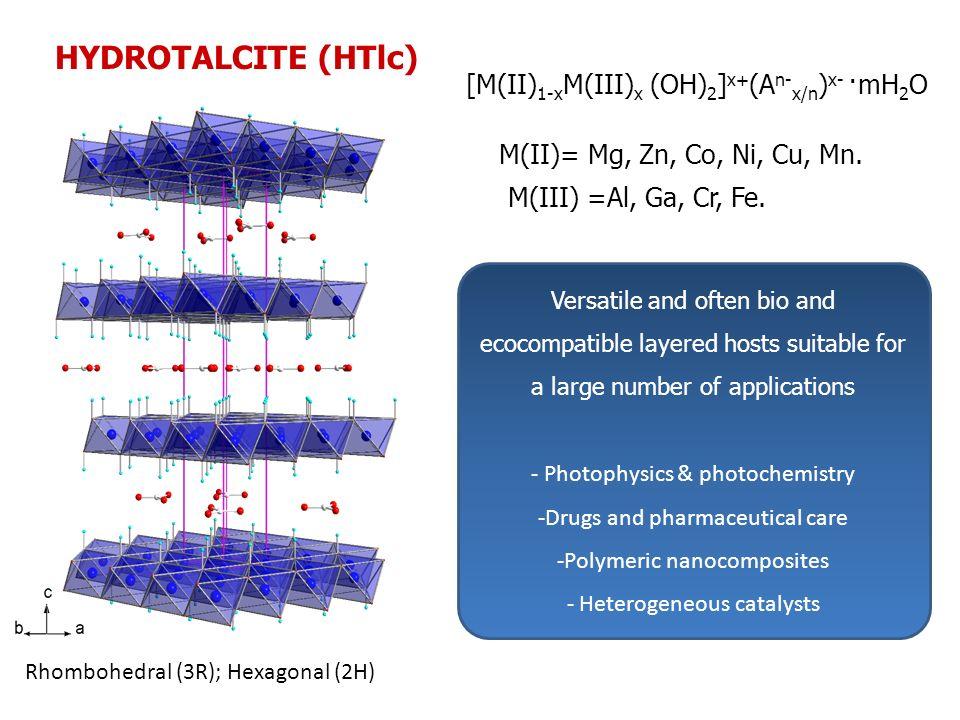 HYDROTALCITE (HTlc) [M(II)1-xM(III)x (OH)2]x+(An-x/n)x- ·mH2O